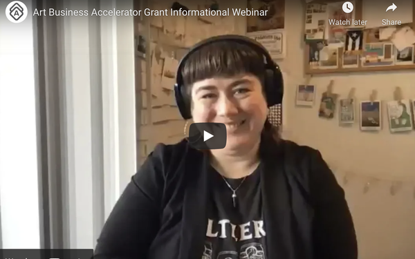 VIDEO:  Artwork Archive's Art Business Accelerator Grant Informational Webinar
