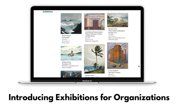 Feature Release: Online Exhibitions and Exhibit Archive for Organizations