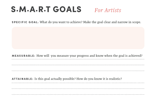 Making SMART Goals for Your Art Business | Free Download