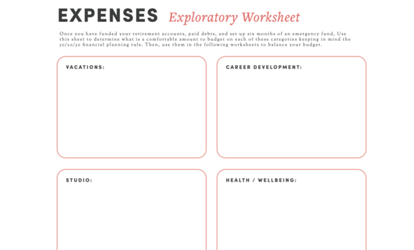 Build a Better Budget for Your Art Business  | Free Budgeting Worksheets