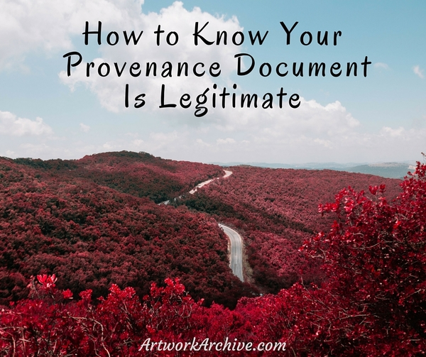 How To Know Your Provenance Document is Legitimate