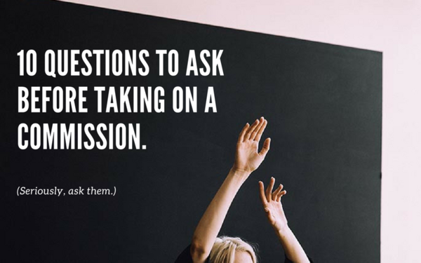 10 Questions to Ask Before Accepting an Art Commission