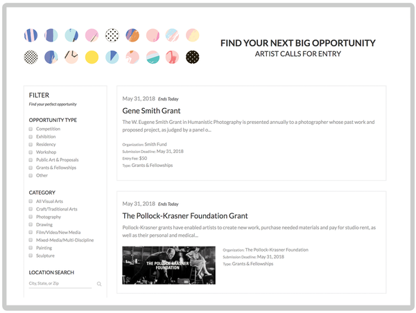 New in Artwork Archive: Find Your Next Artist Opportunity
