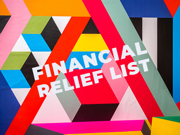Financial Relief Resources For Artists During Artwork Archive
