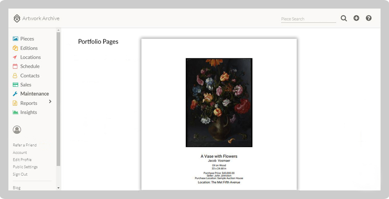 How to Use Portfolio Pages to Impress Art Buyers and | Artwork Archive