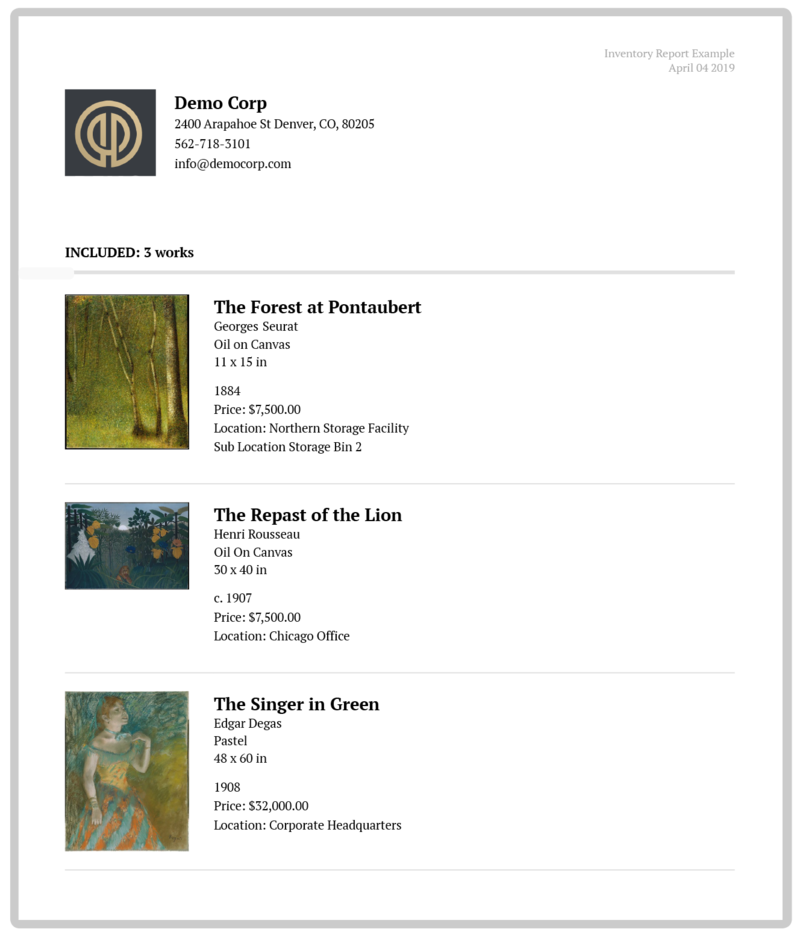 Your Art Collection's Guardian: Artwork Archive's   Artwork