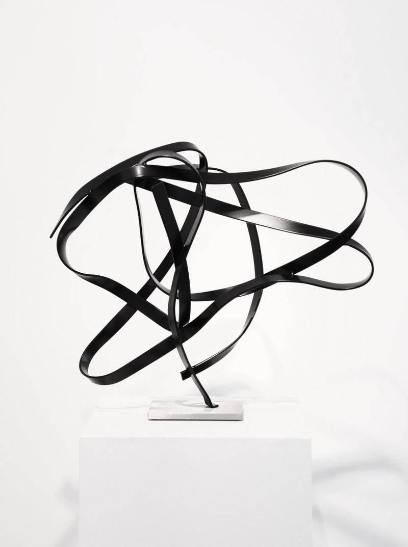 Studio Study 19-5, steel with dark bronze powder coat, 16 x 16 x 8 in (40.64 x 40.64 x 20.32 cm) by Matt Devine