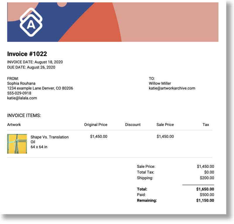 How To Use Online Invoicing To Get Paid For Your Art Artwork Archive