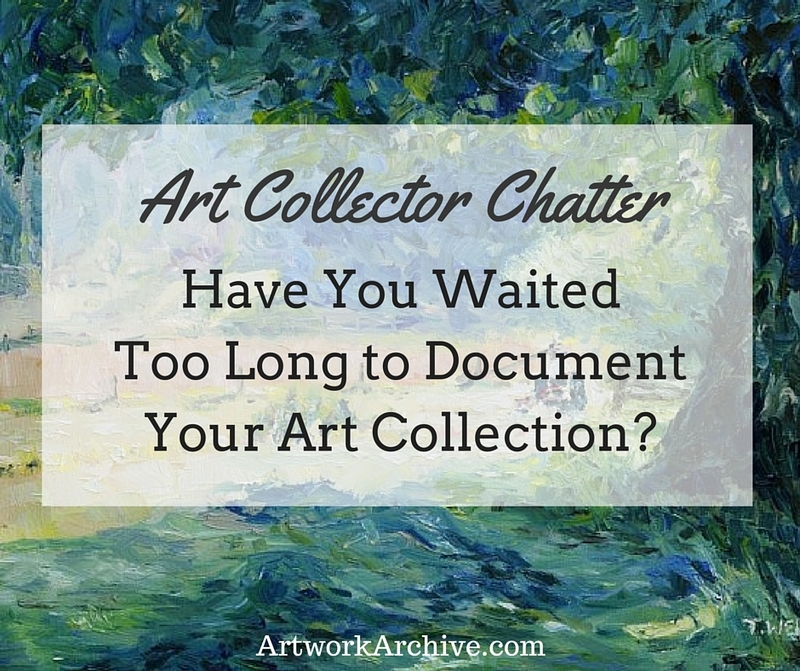 When You Should Start Documenting Your Art Collection